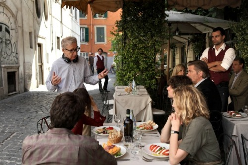 "Filming ""To Rome With Love"" with Woody Allen, Alec Baldwin, Greta Gerwin and Ellen Page — in Italy — sounds like a dream. Did you ever stop and think, ""This is really amazing""? Yeah. Every single day. We couldn't stop laughing. It felt rude to smile like an idiot every time Woody Allen would speak to us because it was just a shocking experience to be in the same room. Luckily, we all kind of felt it, so it felt like we could at least commiserate with feeling so uncomfortable and it was great… I imagine that's what it must be like for anybody who goes onto a set of his. I mean, it's impossible to be in this business and not in some way idolize him. So, yeah, it was like, every day — really thrilling.  Jesse Eisenberg on what it's like to work with Woody Allen"