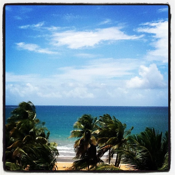 So Blue Puerto Rico Windy yet calm. Participation by Lamia P.