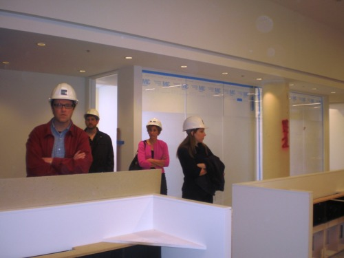Touring one of our Cleveland Clinic projects.