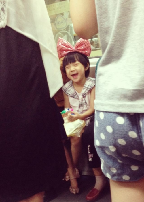Super cute subway girl!