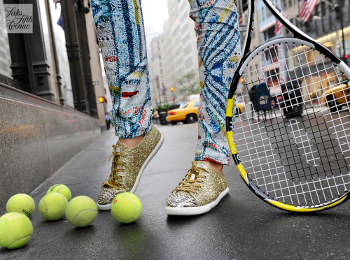 10022-shoe:  Tennis, anyone? (Glitter sneaks by Miu Miu)