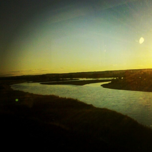 Delta in the Yellowstone. #river #trainride #Montana #Badlands (Taken with Instagram)