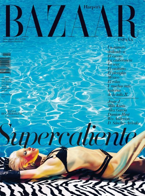fashion-dispatch:  Hanaa Ben Abdesslem for Harper's Bazaar Spain, July 2012. This is to hot….  such a striking cover