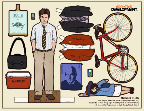 Paper dolls from TV shows and movies by illustrator Kyle Hilton on Tumblr