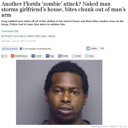 Bath Salts are back: another Florida zombie attack