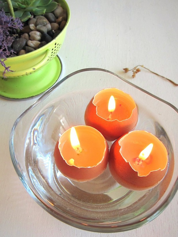 hellosmitten:  diy egg cup candles | tutorial | eco monster via thebrightsideproject