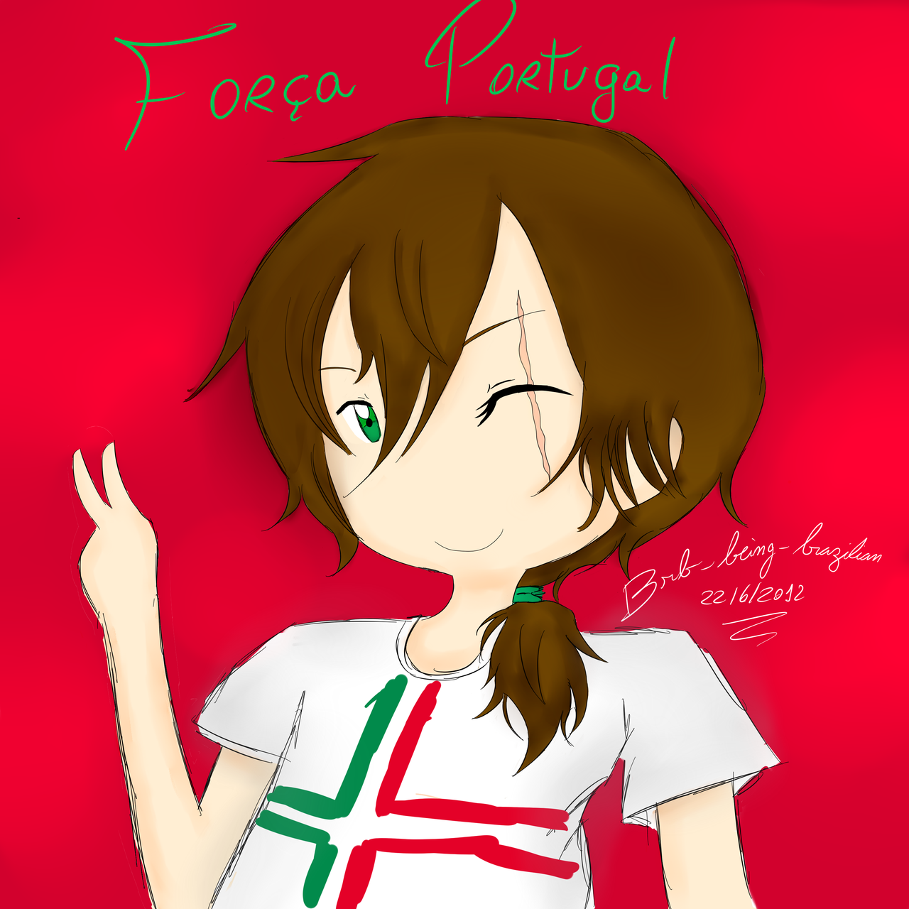 brb-being-brazilian:  Because portugal won last match and yes ;3;  FORÇA PORTUGAL!//shooted