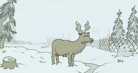 Ordinary Deer? [Click to animate] Just chilling in the forest, doing nothing. But then!