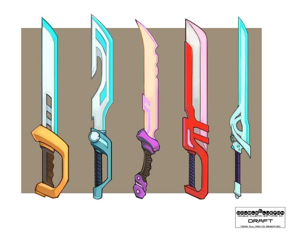 Today brings us some fresh weapon concepts, in the form of various swords.
