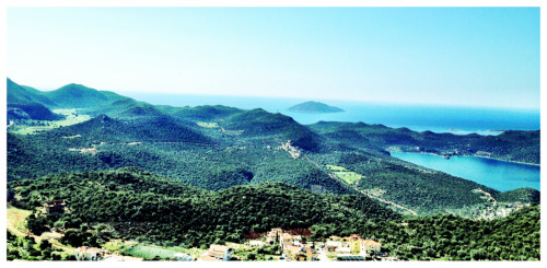 The Mediterranean Coast. You can see the Greek Islands from Kas, Turkey.