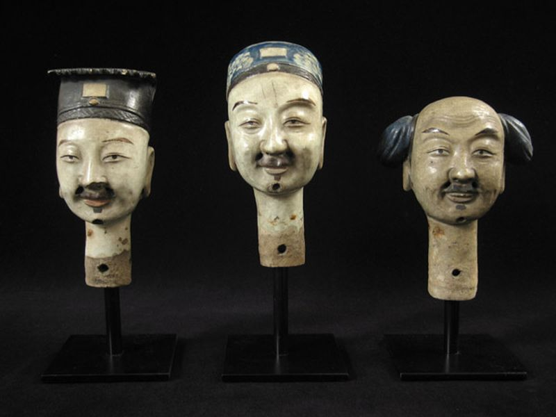 - Ceramic puppet heads, China