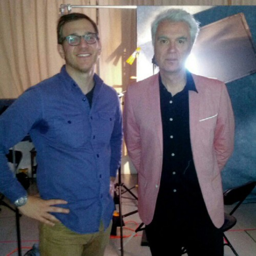 Director Danny and the dapper David Byrne at the end of his Epiphany (Taken with Instagram at MASS MoCA)