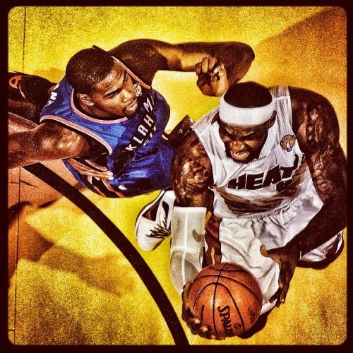 the lion defeats the dragon. #Heat #Thunder #Finals  (Taken with Instagram)