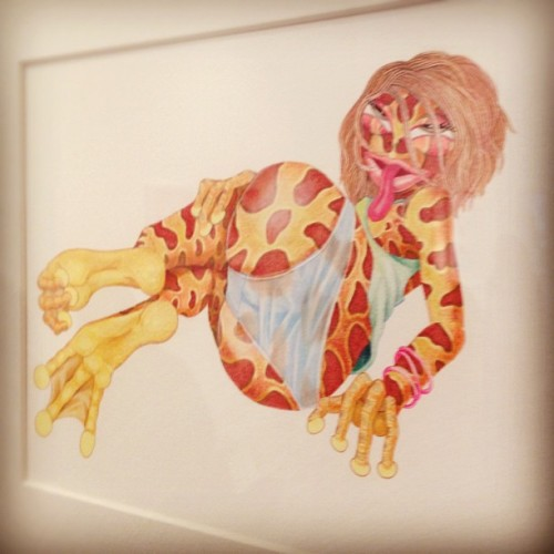 Bootylicious Lizard gal by Matt Furie (Taken with Instagram at New Image Art)