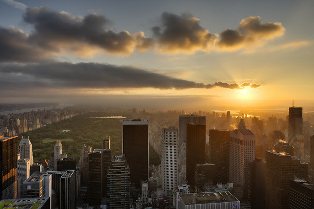 New York City at Sunrise, June 18, 2012 by mudpig on Flickr.