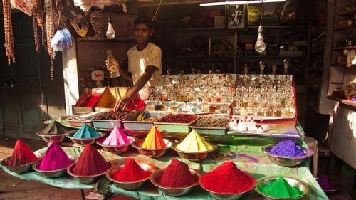 Color, incense and perfume at the Devaraja Market by 24_Fps on Flickr.