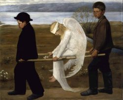 The Wounded Angel by Hugo Simberg, Finnish symbolist painter, 1903/
