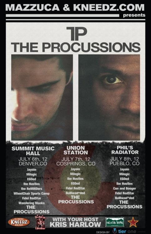 Mr. J. Medeiros + Stro Elliot = 3 shows as The Procussions! PEEP! PEEP!