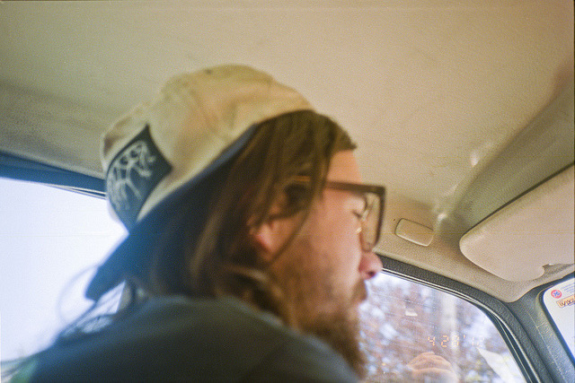 Tim in his Volvo, Santa Cruz, CA, April 2012 by koneko kitten on Flickr.