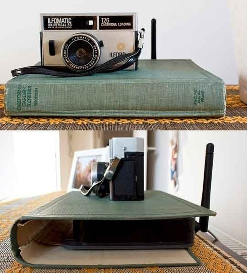 What a great idea!! Hide your computer router.