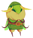 redrots:  tiny mothy Link that I drew in a TE comment the other day   This is… adorable…