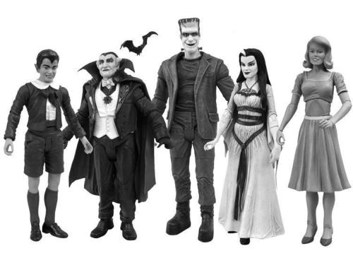 Munsters Black and White action figure set made by Diamond Select (available in November)