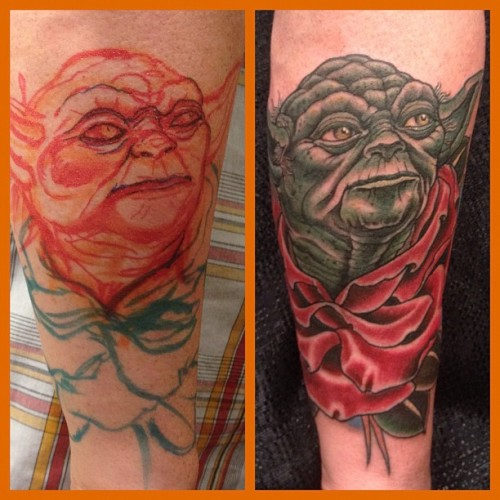 fuckyeahtattoos:  Done in Toronto at NIX convention by Adam Hays outta NYC