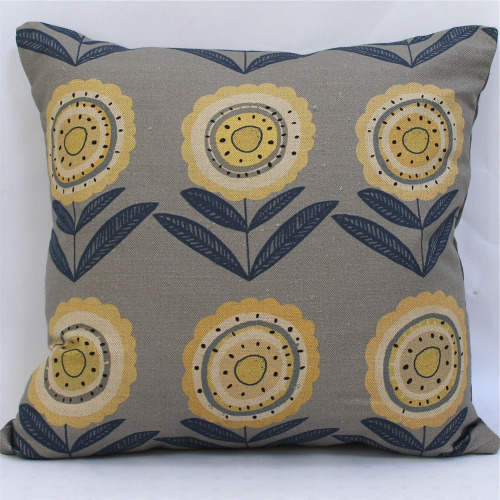 Big Daisy Scatter Cushion £40.00 Lovely graphic linen printed in the UK. (via Winter's Moon — Big Daisy Scatter Cushion)