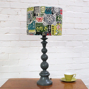 Lampshade in Multi Vintage Fabric - Made to Order (via Winter's Moon — Lampshade in Multi Vintage Fabric - Made to Order)