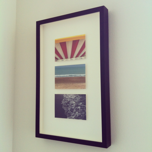 pambeckman:  We just hung our most creative wedding present, a First Ten Thousand original capturing scenes from our wedding site.  Thank you Stacey & Michael! We absolutely love it and it goes so great in our new apartment.      We got it in just under that one year wedding gift deadline. Whew!