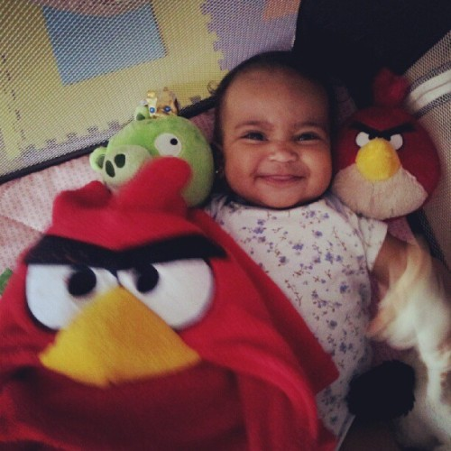 #angrybirds #sophia  (Taken with Instagram)