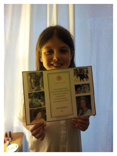 Hannah was thrilled to receive a letter from Her Majesty, Queen Elizabeth II in response to her letter telling her all about the Brownies princess party.