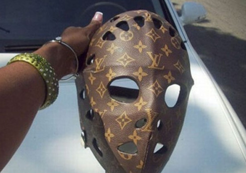 Louis Vuitton Hockey Mask Just because you're at Camp Crystal Lake doesn't mean you can't be fashionable.