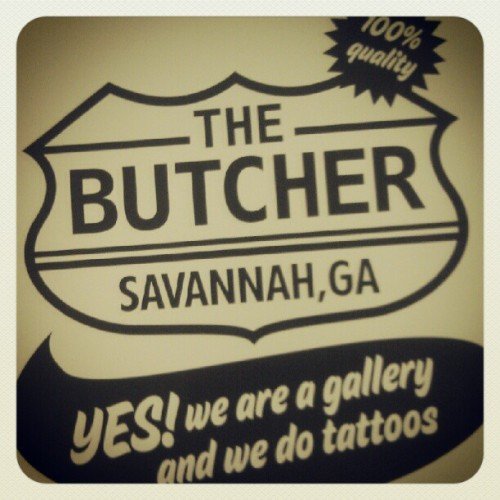 #butcher #gallery #tattoos #tattooing #savannah #georgia #custom #coryhand #jimmybutcher @macsnotes  (Taken with Instagram)