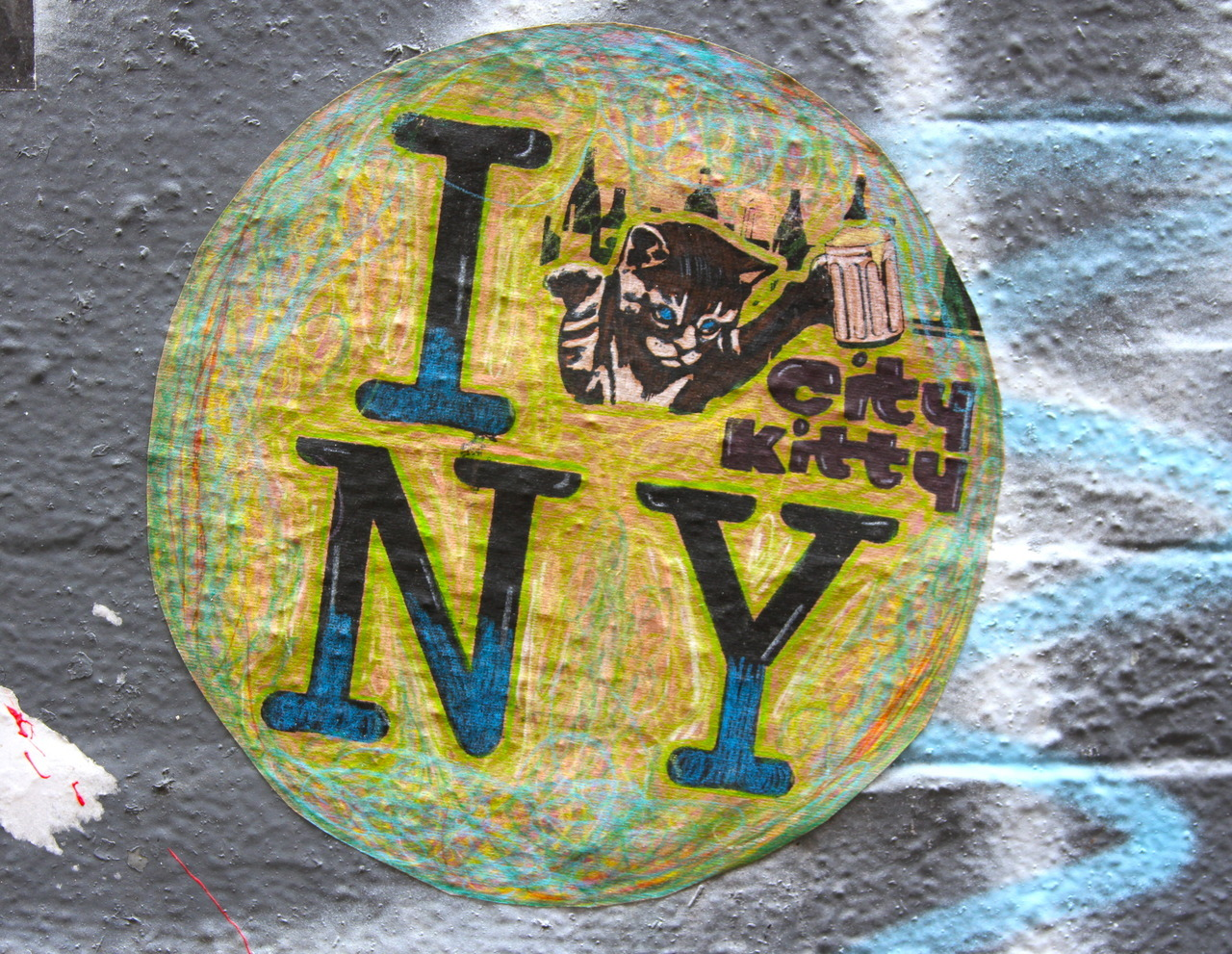 thedustyrebel:  City Kitty - I Kitty NY Freeman Alley, NYC