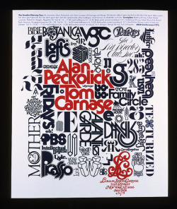 lubalincenter:  Alan Peckolick and Tom Carnase tour poster on Flickr.