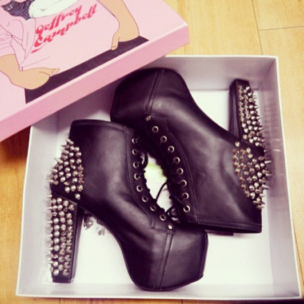 Look what just came off the truck….  #jeffreycampbell #jcgirls #litaspike #lita #shoeicide (Taken with Instagram at FLYJANE Studios)