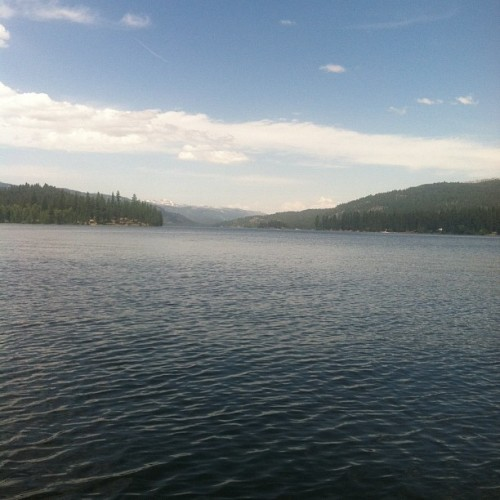 My view right now. #mccall #idaho #bigpayettelake #lake #escape (Taken with Instagram at Pilgrim Cove)