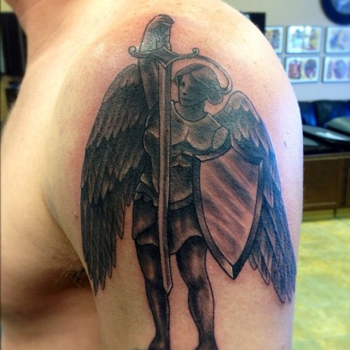 Angel tattoo (Taken with Instagram)