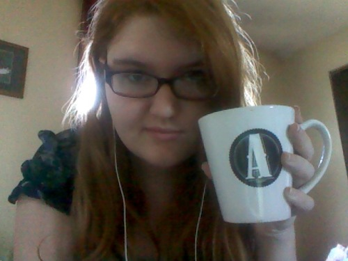 possibilitygirl4:  I got myself this mug at work. It has an A for awesome (just kidding it's A for Alyssa). If you knew how cheap it was you'd have an aneurysm.  As Stacie said, we got a message asking us to post pictures of ourselves. This was just the most recent one I had on my personal, haha. -Alyssa