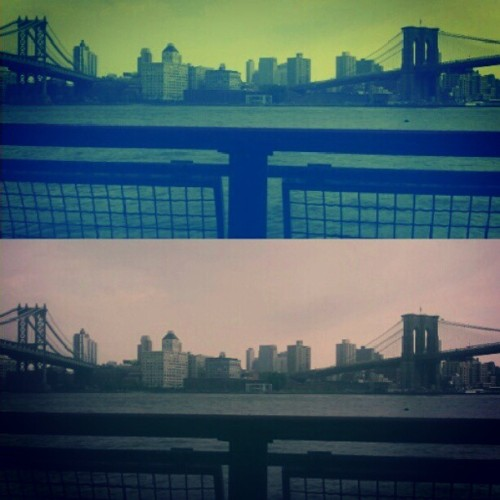 Coloration #TwoBridges #BrooklynBridge #ManhattanBridge #Brooklyn #Manhattan #NewYorkCity #Summer #LES #Chinatown #LowerManhattan #NewYorkCity #PicsArt #Colors #Android #Androidography #AmateurPhotography  (Taken with Instagram at Two Bridges)