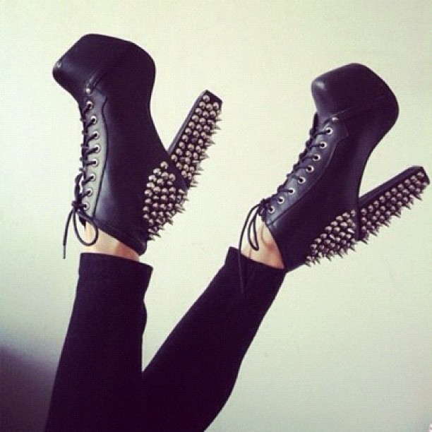 Jeffrey Campbell LITA SPIKE in Black Silver Available NOW at ShopFLYJANE.com #shoeicide #instafashion #litaspike #lita #jeffreycampbell #jcgirls #jeffreycampbelllita #spike #rocknroll (Taken with Instagram)