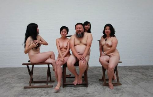 Here's a naked Ai Wei Wei with some naked friends. Happy Friday.  (via Hyperallergic) but seriously, you should follow this story.