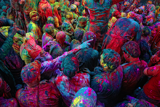 Holi, the Hindu festival of colour. (x)