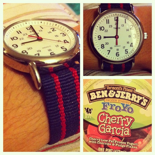 Watch and ice cream.