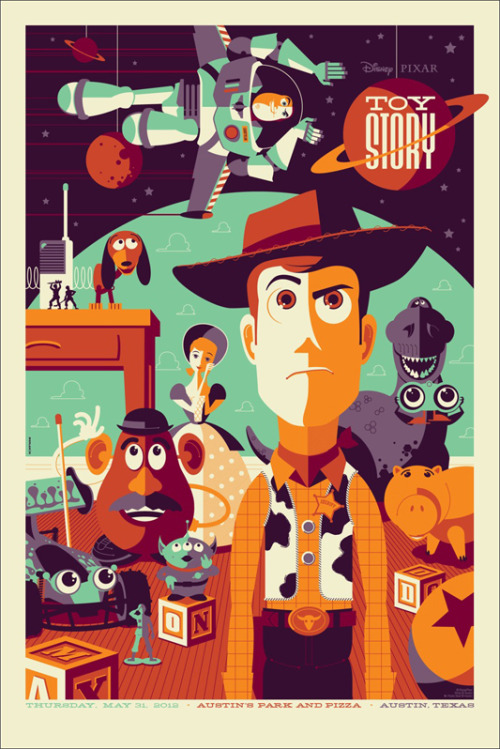 This isn't Flying, This is Falling with Style! Vintage Toy Story Poster By Tom Whalen
