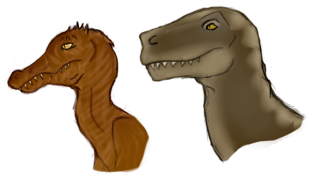 ((A more realistic approach to our two current Dinosaurs))