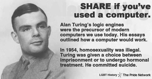 androidghost:    Alan Mathison Turing considered to be the father of computer science and artificial intelligence.