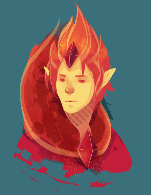 blazn:  My first adventure time fanart! :] Featuring the flame prince~ View on deviantart