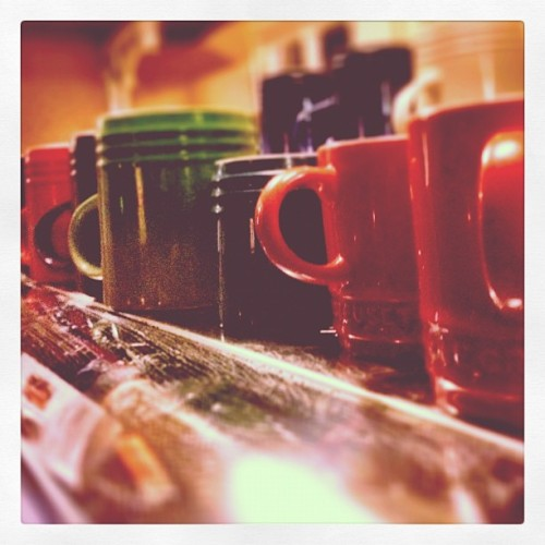 Le Creuset mugs in the Lord Nelson, #oakham #lecreuset #rutland (Taken with Instagram)